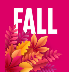 Autumn background with fall leaves vector
