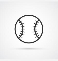 baseball icon whit trendy shadow eps10 vector image