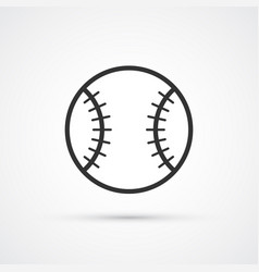 baseball icon whith trendy shadow eps10 vector image