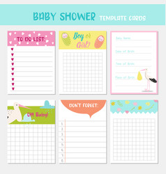 bashower party templates child card vector image