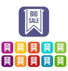 Big sale banner icons set vector