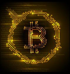 bitcoin simple concept vector image