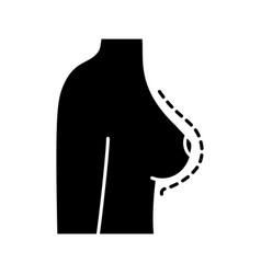 Breast augmentation glyph icon vector