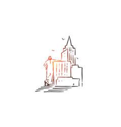 Building construction business concept sketch vector