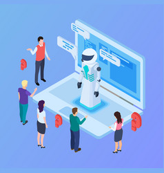 chatbot concept isometric artificial vector image