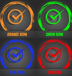Check mark sign icon Checkbox button Fashionable vector