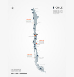 Chile infographic map vector