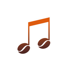 coffee note music logo icon vector image