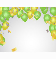 colored and transparent balloons abstract vector image