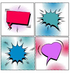 comic colorful blank speech bubbles set vector image