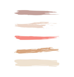 Cosmetic brush icons set vector
