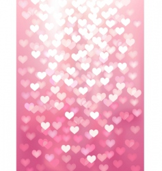 Defocused lights in heart shape vector