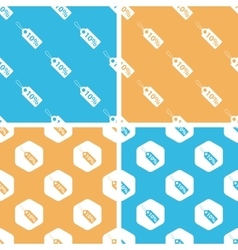 Discount pattern set colored vector image