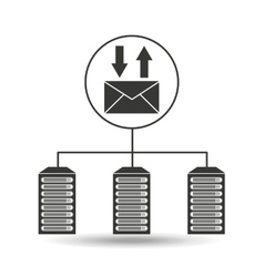 Email communication data center connection vector