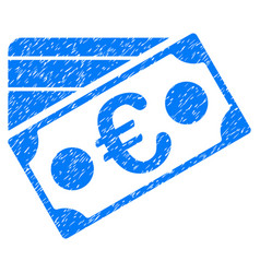 euro banknote and credit card grunge icon vector image