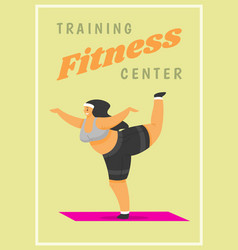fitness woman poster health sport in club cute vector image