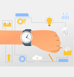 flat time management concept vector image