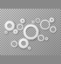 gears background cogwheels gearing isolated on vector image
