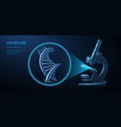 genetic engineering concept 3d dna vector image