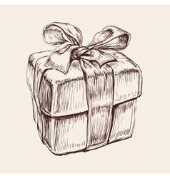 Gift Box Hand Drawn vector
