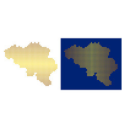 Gold dot belgium map vector