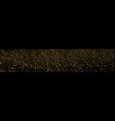 Gold glitter texture panoramic background vector