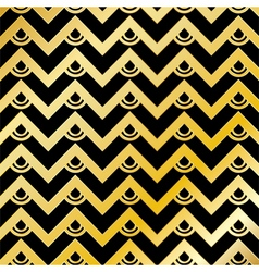 Golden Chevron Pattern Background vector image