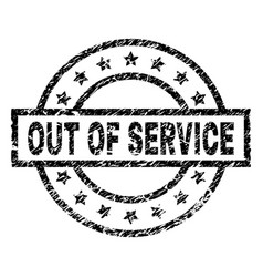 grunge textured out of service stamp seal vector image