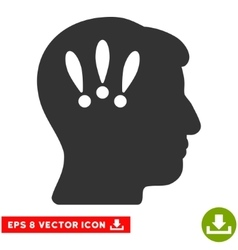 Head Problems Eps Icon vector