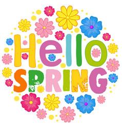 Hello spring text template vector