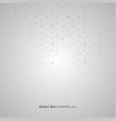 hexagonal background digital geometric vector image
