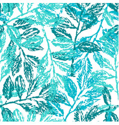ink hand drawn seamless pattern with laurel vector image