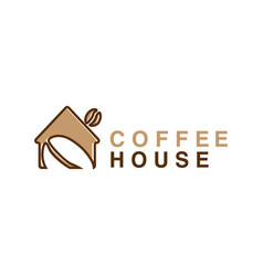 logo coffee house vector image