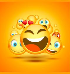 mamy emoji icon on orange background vector image