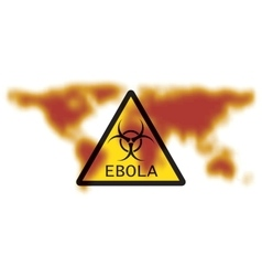 Map of Earth with sign Ebola Virus vector