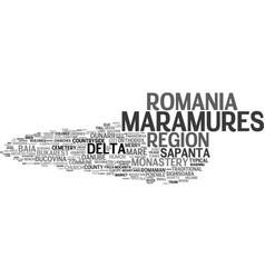 Maramures word cloud concept vector