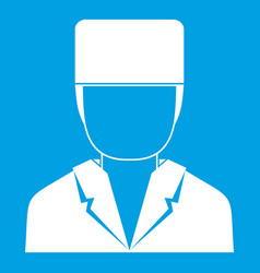 Medical doctor icon white vector