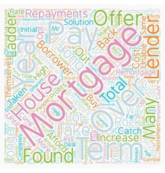 Mortgages Pay Back Over Years text background vector