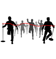 moving finishing line vector image