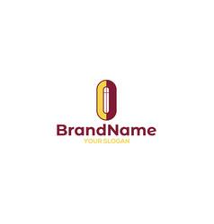 oc church logo design vector image