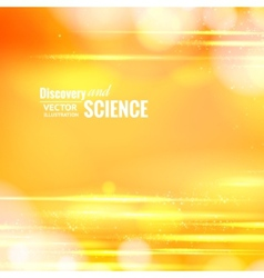 Orange science background vector image
