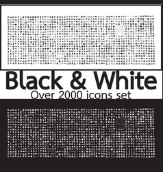 Over 2000 black and white set icons quality design vector