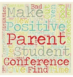 Positive Parent Conferences text background vector