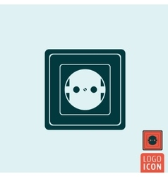 Power socket icon isolated vector image