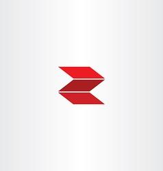 red letter z logotype logo z vector image