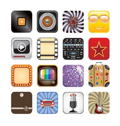 retro app icons vector image