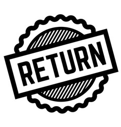 Return black stamp vector