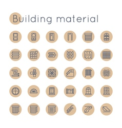 Round Building Material Icons vector