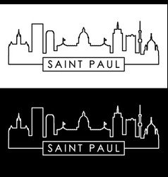 Saint paul skyline linear style editable file vector