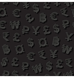 Seamless pattern with currency symbols vector